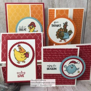 Birds of a Feather from Stampin' Up! has stamps that bring you from Halloween through Valentine's day with super cute little critters. Details on my blog: https://wp.me/p59VWq-aps #stampinup #birdsofeather #valentine #thestampcamp