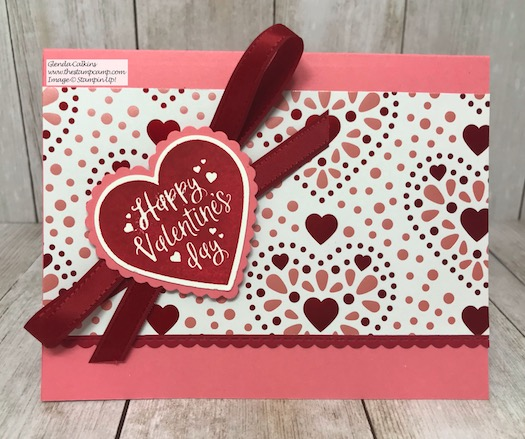 The Heartfelt Bundle from Stampin' Up! makes the perfect Valentine's Day Cards. Details can be found on my blog here: https://wp.me/p59VWq-aHe . #stampinup #valentine #heartfelt #thestampcamp