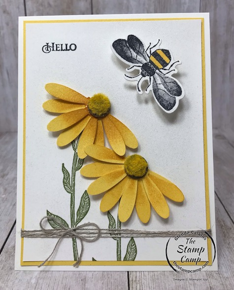Creating a Coneflower and a Wobble Bee