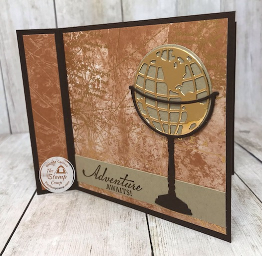 The Beautiful World Bundle is part of my featured Stamp Set for June. It is a great bundle of products for masculine cards like graduation, retirement, birthday etc. You will find all the details on today's faux book binding card on my blog here: https://wp.me/p59VWq-bgy. #stampinup #thestampcamp #masculine #world #technique