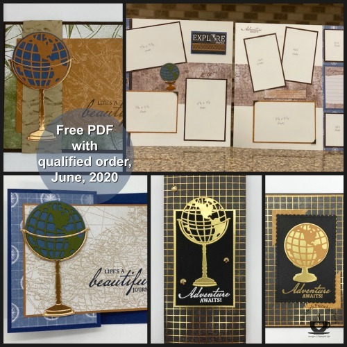 The Beautiful World stamp set/bundle makes the perfect masculine cards for Father's Day, Birthday's Retirement etc. You can also use it to create some great Graduation cards. The possibilities with this stamp set is endless. Details on this FREE PDF file are on my blog here: https://thestampcamp.com/final-days-of-retired-list-products/
