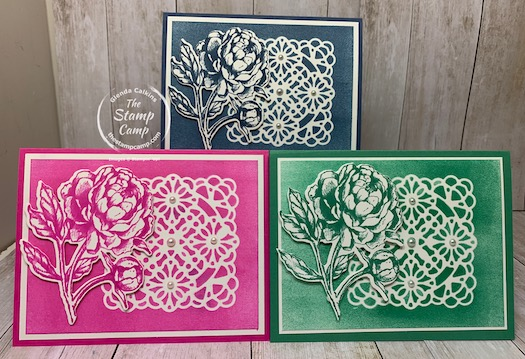 Vellum Square Doilies Used As A Stencil