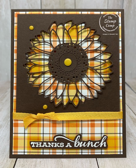Celebrate Sunflowers Peek-a-boo with Plaid Tidings