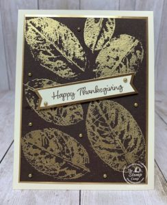 Tuesday's Tips and Techniques Leaf Embossing