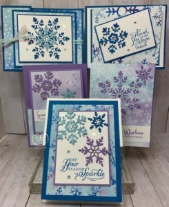 October Featured Stamp Set Snowflake Wishes Bundle
