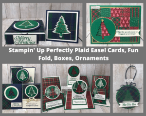 Perfectly Plaid bundle from Stampin' Up! makes the perfect Christmas Cards for this holiday season. You can get this PDF file for free with a min. Stampin' Up! purchase. #thestampcamp #stampinup #perfectlyplaid