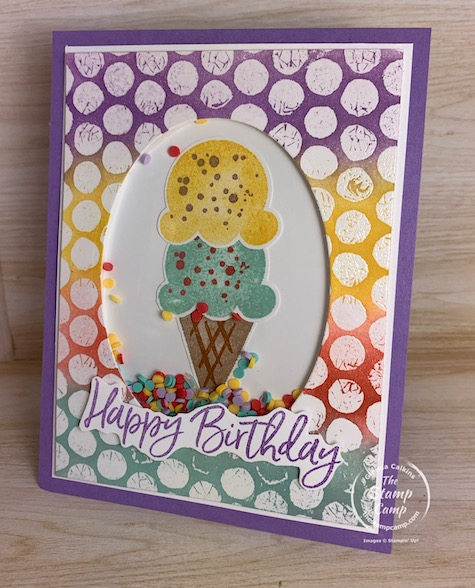 It's Try It Thursday and this is a spin on the Bubble Wrap Background technique. It is a Bubble Wrap Emboss Resist technique. Give it a try! #thestampcamp #stampinup #technique
