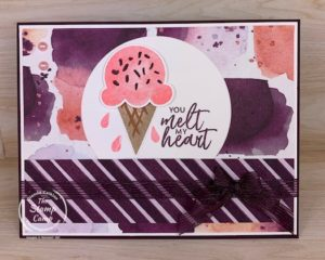 Yes, another Sweet Ice Cream card with the coordinating Ice Cream Corner Designer Series Paper; what can I say; I'm having so much fun with this product suite from Stampin' Up! Gearing up for some fun Summer Events! #thestampcamp #stampinup #icecream