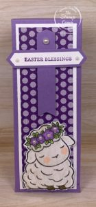 When I saw this little lamb Pez Dispenser I knew right away I was going to create something to hold it in. I created this box and used the little lamb from the Springtime Joy stamp set. It goes perfectly with this pez dispenser. #thestampcamp #stampinp #treatholder #easter