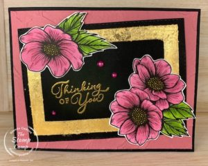 Technique Tuesday this week has a couple of techniques for you. I will show you how to color the True Love DSP and show you how to create a Gilded Leafed Frame. #thestampcamp #stampinup #technique